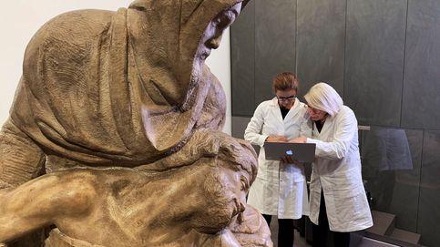 La 'Piedad' de Miguel Ángel, en su primera fase de restauración
