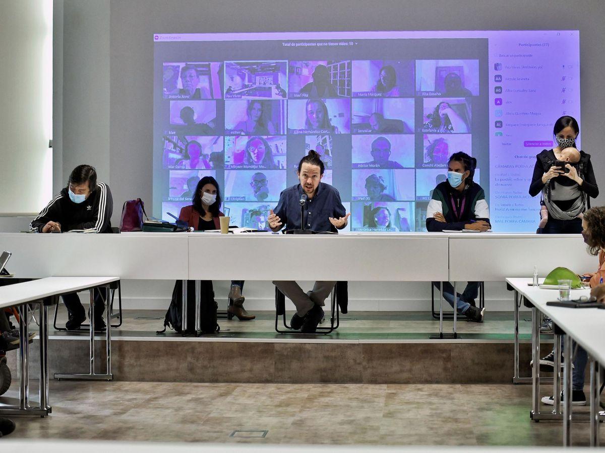 Foto: Pablo Iglesias, durante el Consejo Ciudadano de Podemos. (EFE)