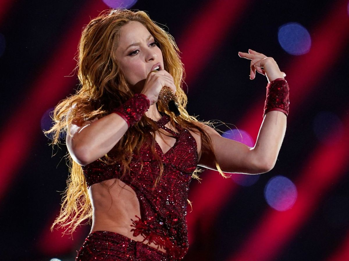 Foto: Shakira, en la Super Bowl de 2020. (Reuters)