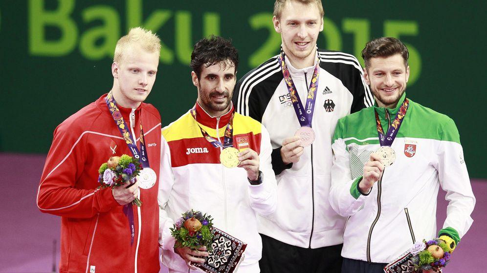 Foto: Pablo Abián (2I) consiguió la medalla de oro en bádminton en los Juegos Europeos de Bakú.