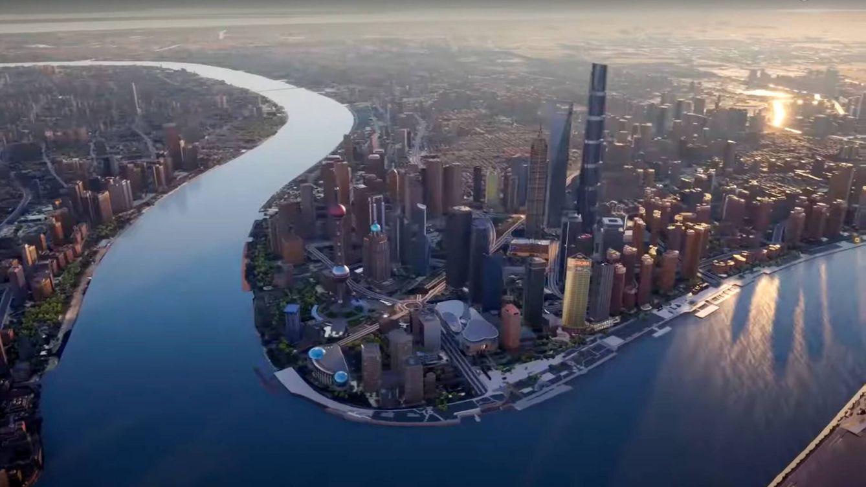 Foto: La versión gemela de Shanghai en el metaverso (51world)