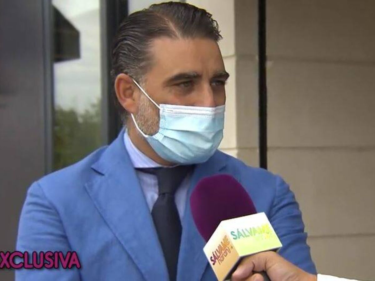 Foto: Matías Urrea, exmarido de Ainhoa Arteta, en 'Sálvame'. (Mediaset)