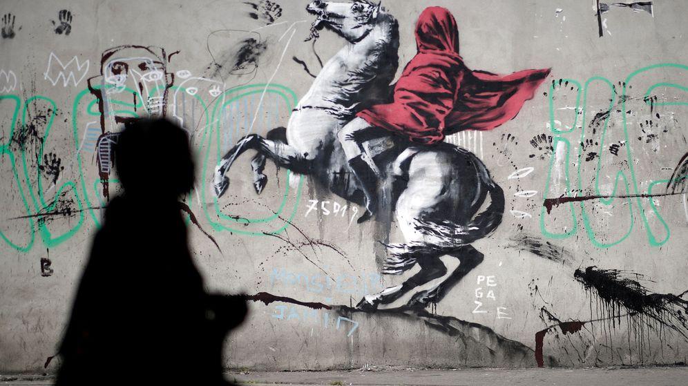 Foto: Arte callejero: Banksy se estrena en París