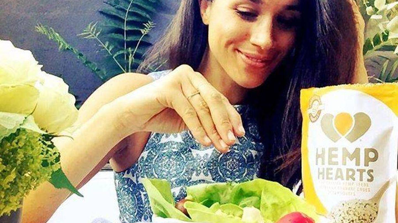 Meghan durante un desayuno publicado en sus antiguas redes sociales. (Instagram @meghanmarkle)