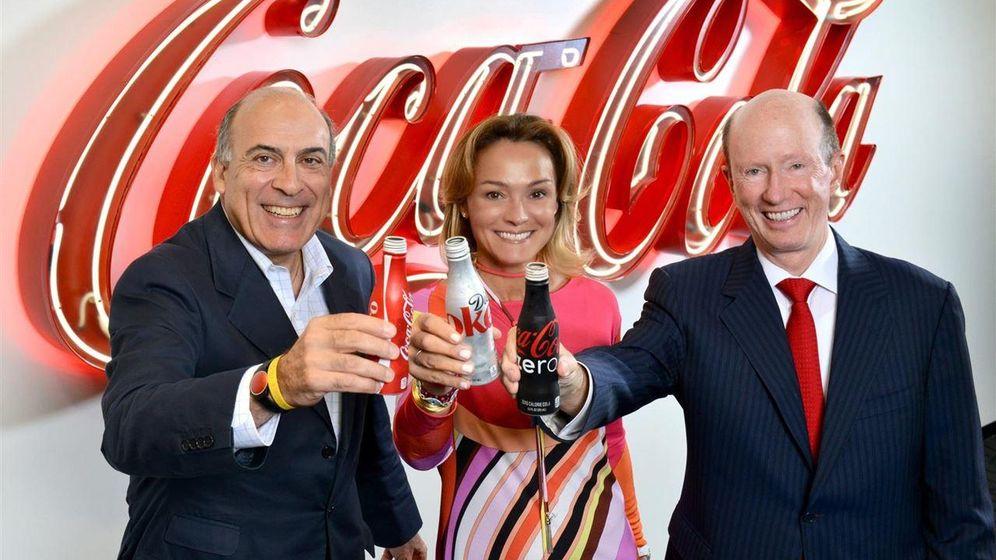 Foto: Muhtar Kent, presidente y consejero delegado de The Coca-Cola Company, Sol Daurella, presidenta de Coca-Cola Iberian Partners, y John Brock, presidente y consejero delegado de Coca-Cola Enterprises.