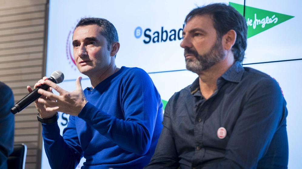 Foto: Ernesto Valeverde, en la presentación.