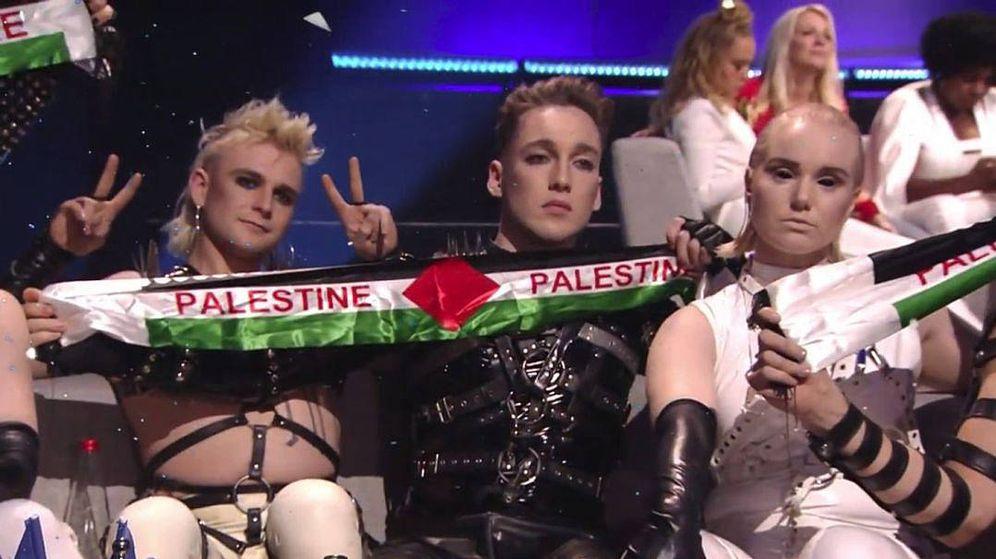 Foto: Grupo Hatari, representantes de Islandia, en 'Eurovisión 2019'. (RTVE)