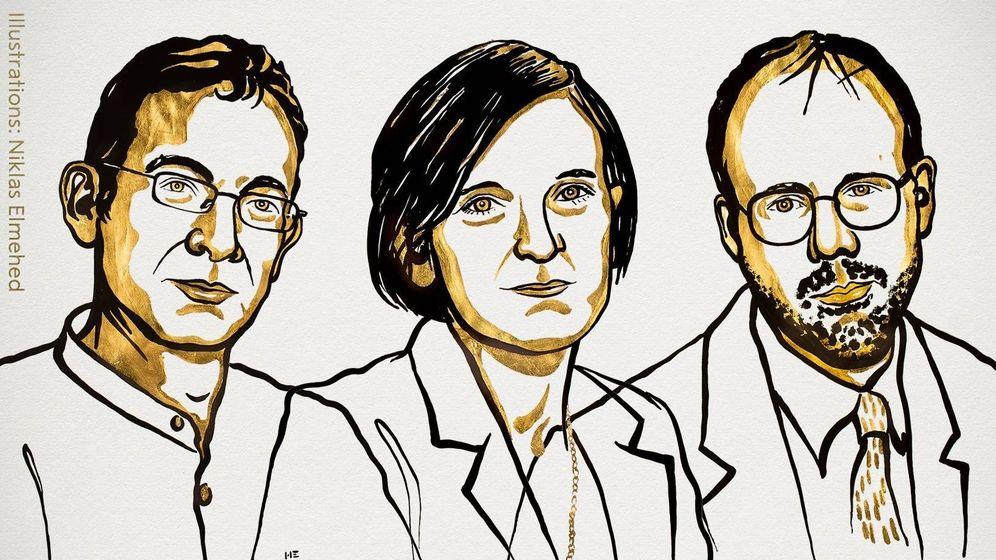 Foto: Ganadores del Nobel de Economía 2019 (Riksbank)