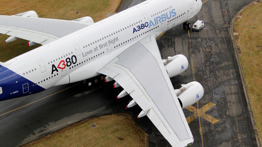 Foto: A380 de Airbus en un evento en París. (Reuters)