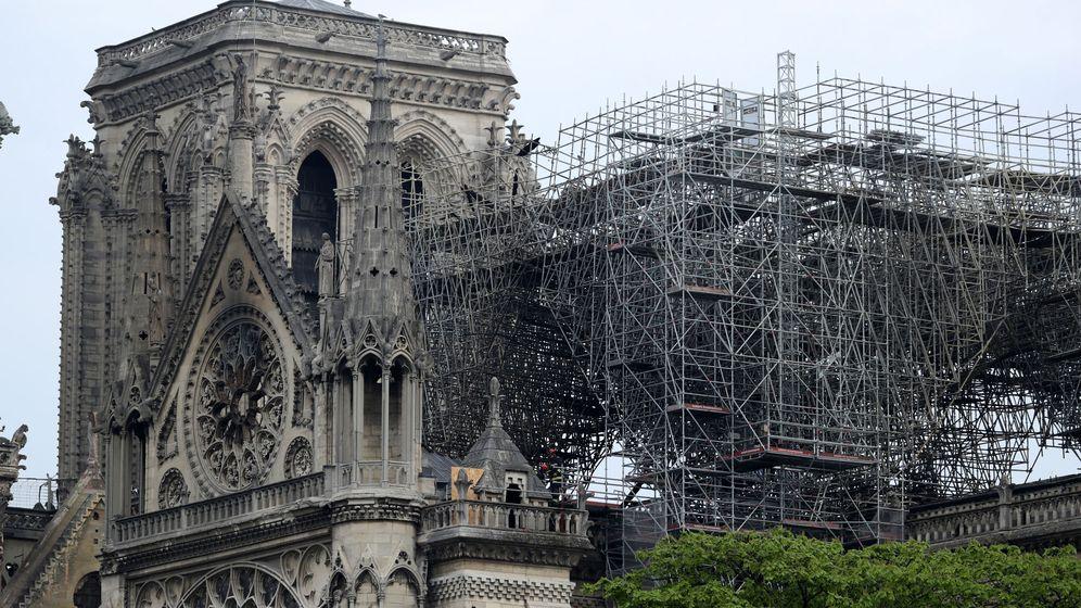 Foto: El fuego ha devastado buena parte de Notre Dame. (Reuters)