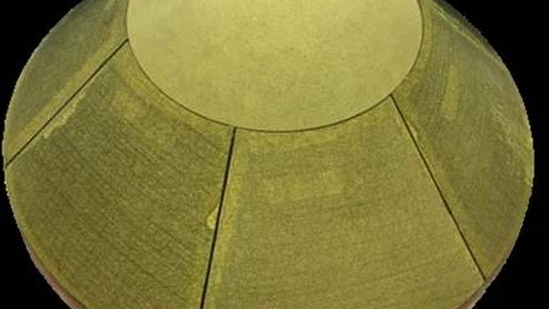 Detalle del demostrador a escala real de la cápsula construida para traer muestras de Marte a la Tierra.