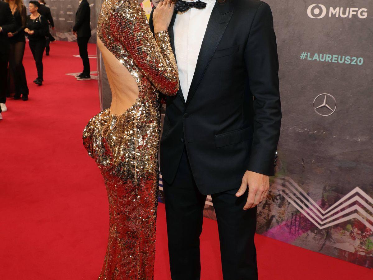 Foto: Vanesa Lorenzo y Carles Puyol, en los Premios Laureus. (Getty)
