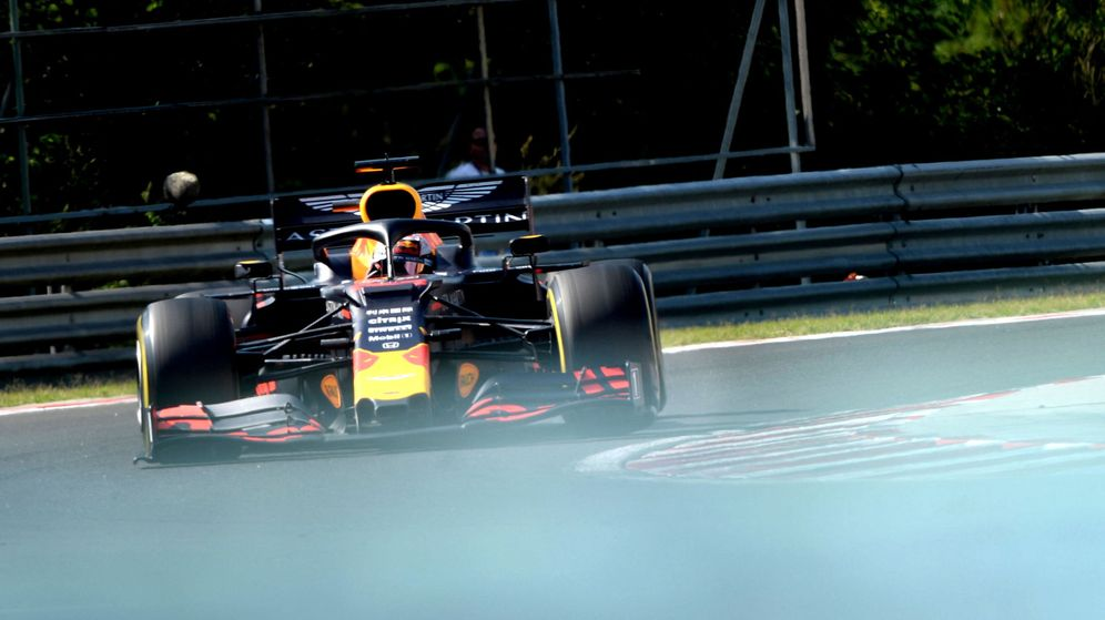 Foto: El Red Bull de Verstappen en Hungría. (EFE)