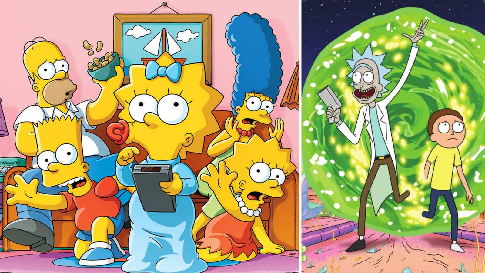 Foto: Imagen de 'Los Simpson' y 'Rick y Morty'.