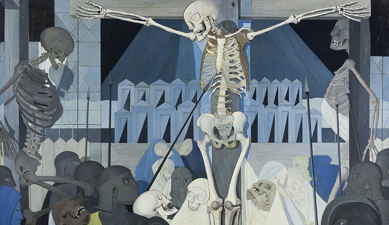 Foto: Putas, esqueletos y un prostíbulo en pintura