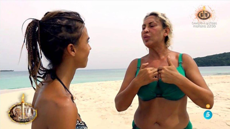 Raquel Mosquera responde a las críticas en 'Supervivientes 2018'. (Telecinco)