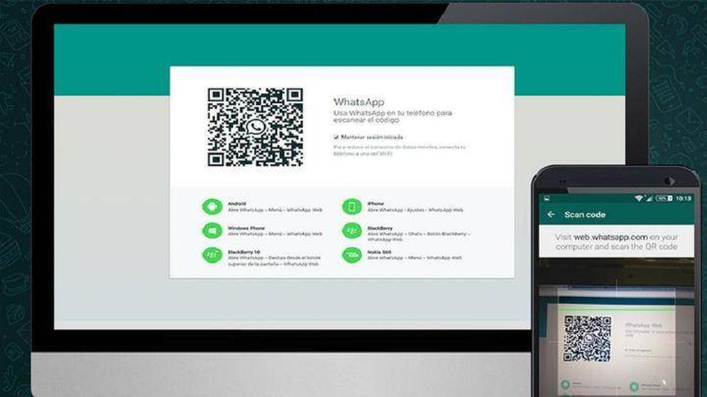 Foto: WhatsApp Web se inicia leyendo un código QR con tu teléfono. (WhatsApp)