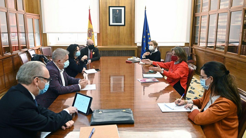 Reunión de la Ministra Teresa Ribera con el tercer sector sobre la pobreza energética (EFE)
