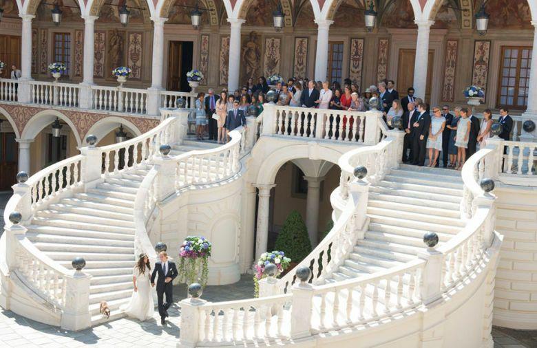 Imagen del enlace distribuida por la Casa Real monegasca a los medios