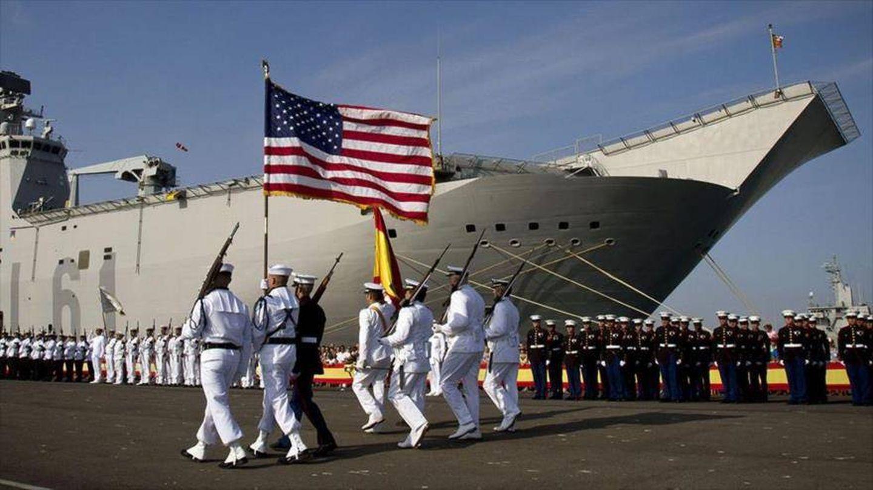 Desfile en la base de Rota. (Foto: HispanTV)