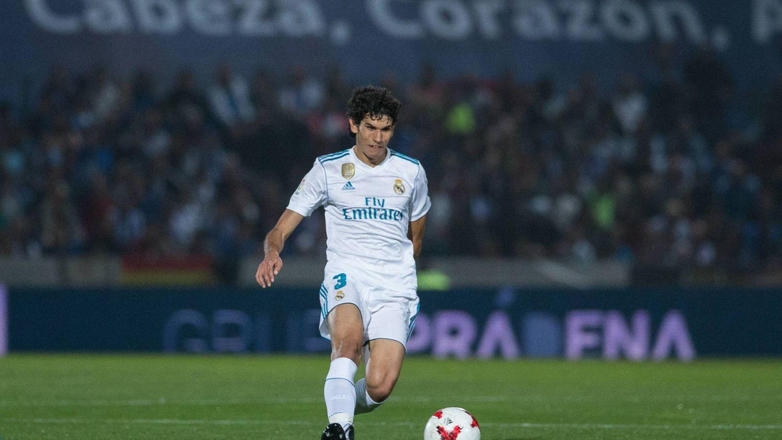 Foto: Jesús Vallejo, durante el partido de Copa que el Real Madrid disputó en Fuenlabrada. (Cordon Press)