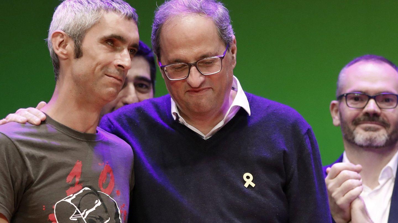 Quim Torra, junto a Roger Español. (EFE)