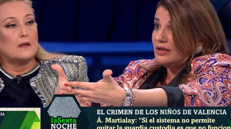 'La Sexta noche'   Bronca entre Elisa Beni y Claver por los niños asesinados: Imbécil