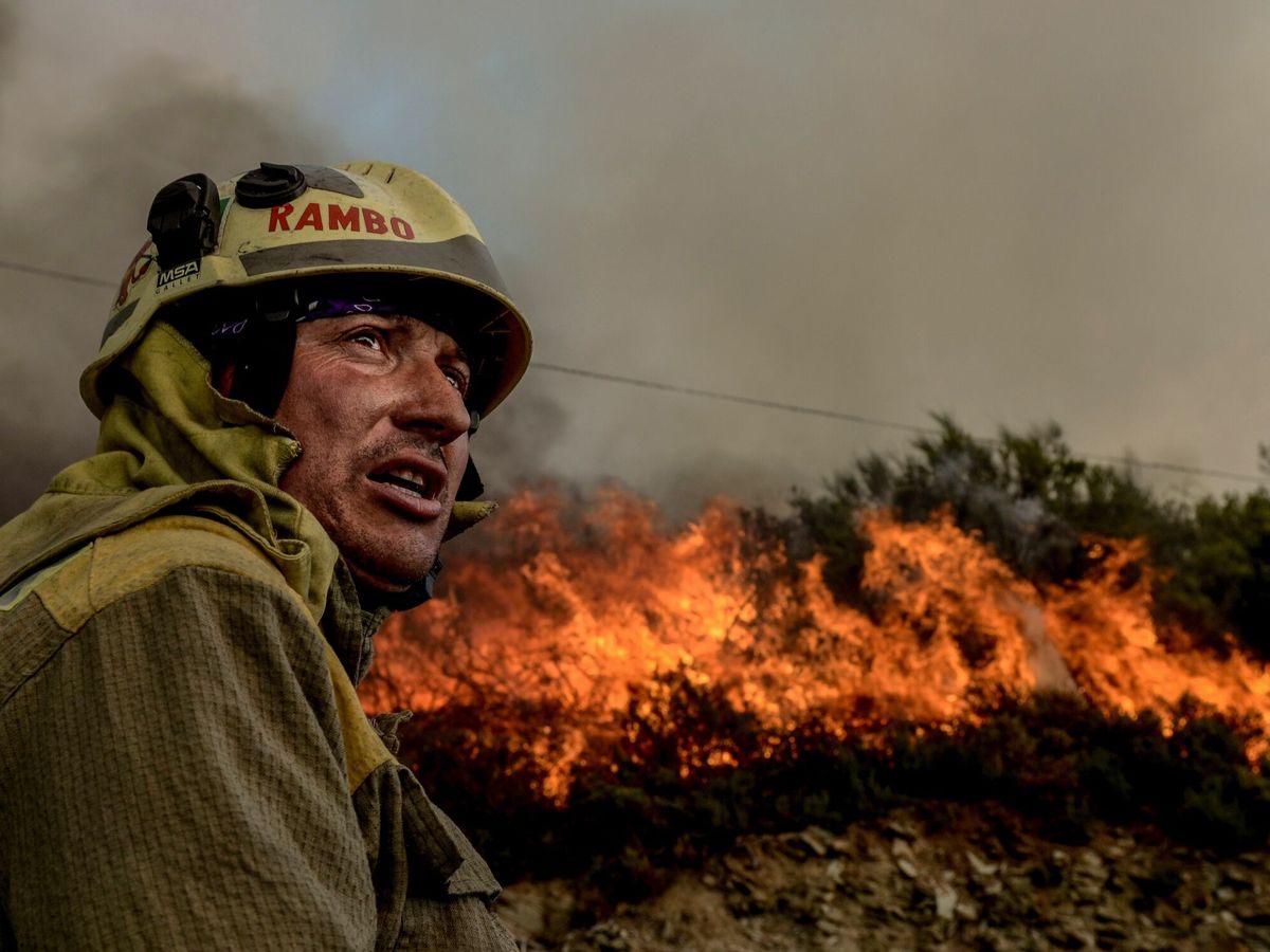 Foto: Incendio en Galicia, en septiembre de 2020. (EFE)