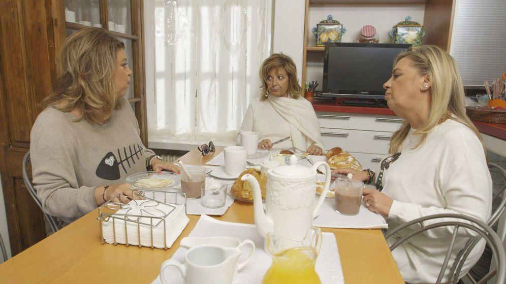 Foto: Las Campos desayunando.