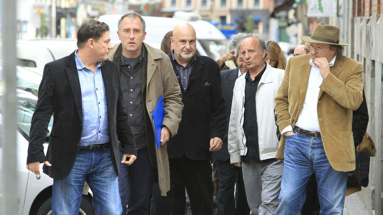 Foto: José Luis Acosta (segundo por la izquierda) junto a Antón Reixa en 2012 (EFE)