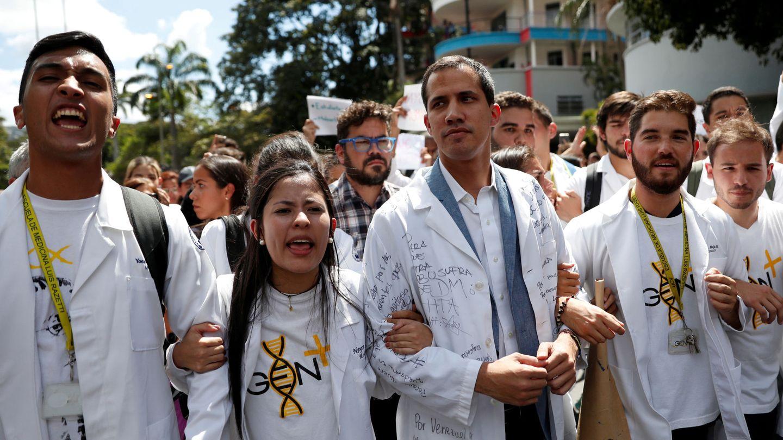 El líder opositor Juan Guaidó durante una protesta contra el Gobierno de Nicolás Maduro en Caracas, el 30 de enero de 2019. (Reuters)