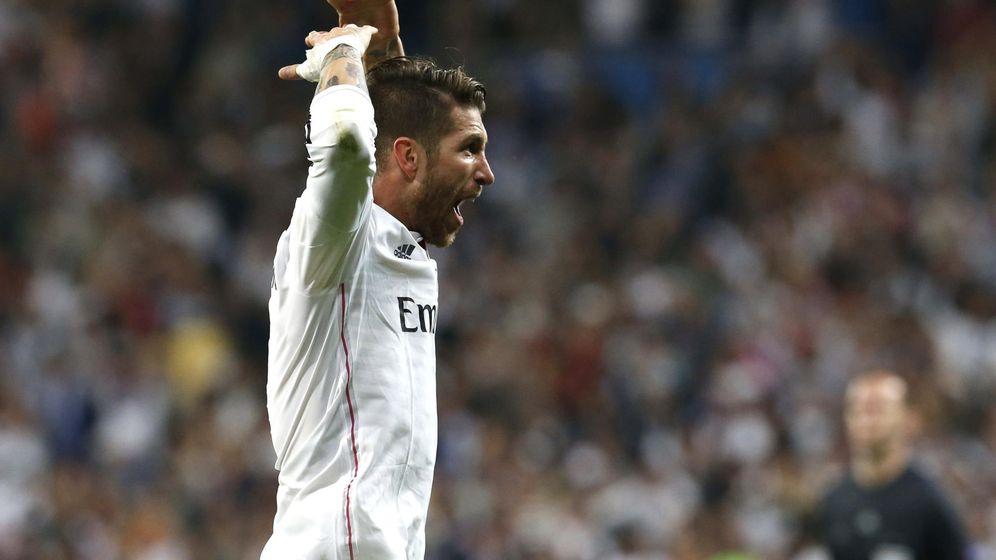 Foto: Sergio Ramos en el partido de este miércoles en el Santiago Bernabéu.