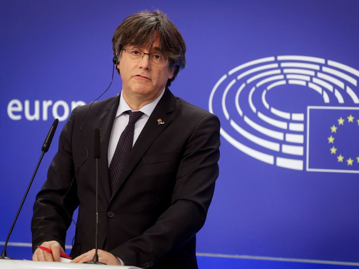 Foto: Carles Puigdemont en el Parlamento Europeo. (EFE: Stephanie Lecocq)