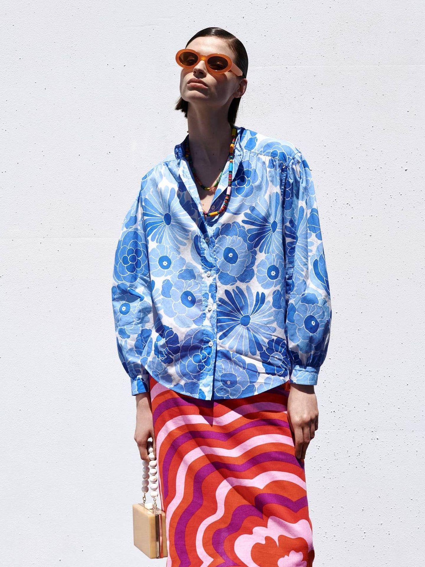 Falda estampada de Zara. (Cortesía)