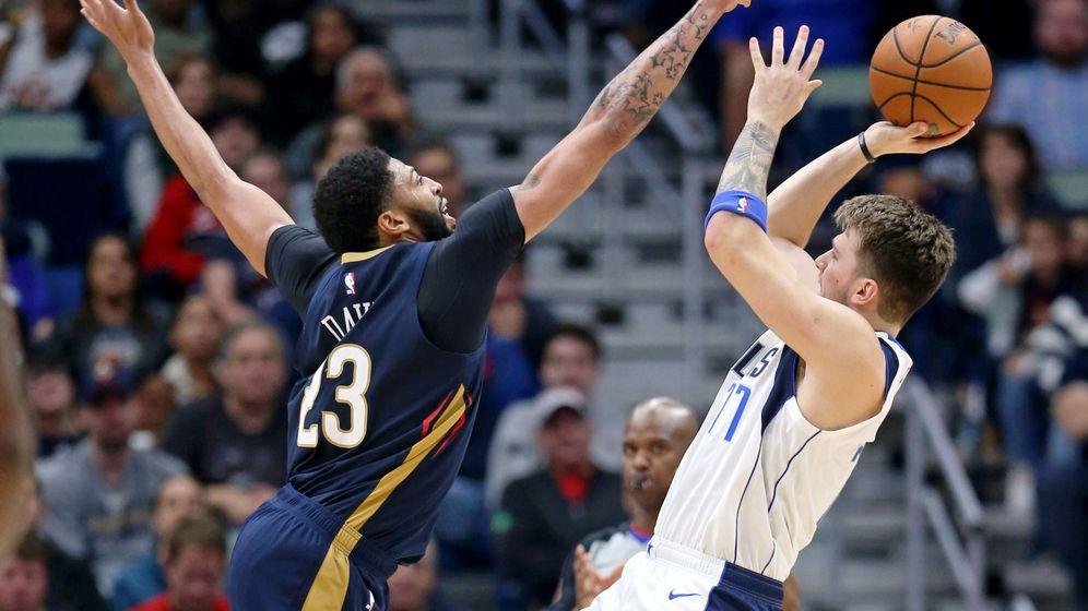Foto: Luka Doncic y Anthony Davis fueron los mejores del Pelicans-Mavericks este viernes. (USA TODAY Sports)