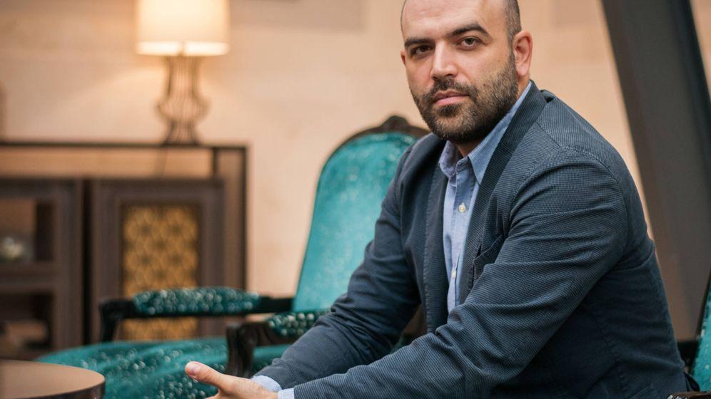 Foto: El autor Roberto Saviano, en un hotel en Madrid (C. Castellón)