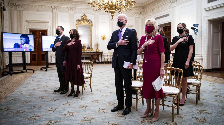 Primer servicio de oración en la Casa Blanca de la era Biden. (EFE)