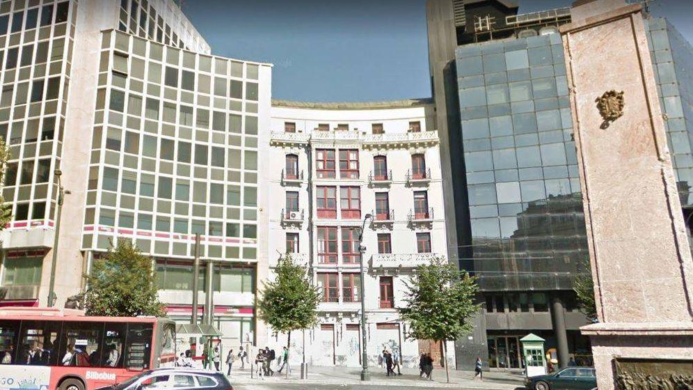 Foto: Plaza Circular 3. En el centro, el edificio adquirido por Azora.