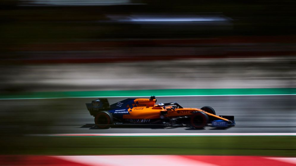 Foto: Carlos Sainz durante los entrenamientos libres del GP de España. (EFE)