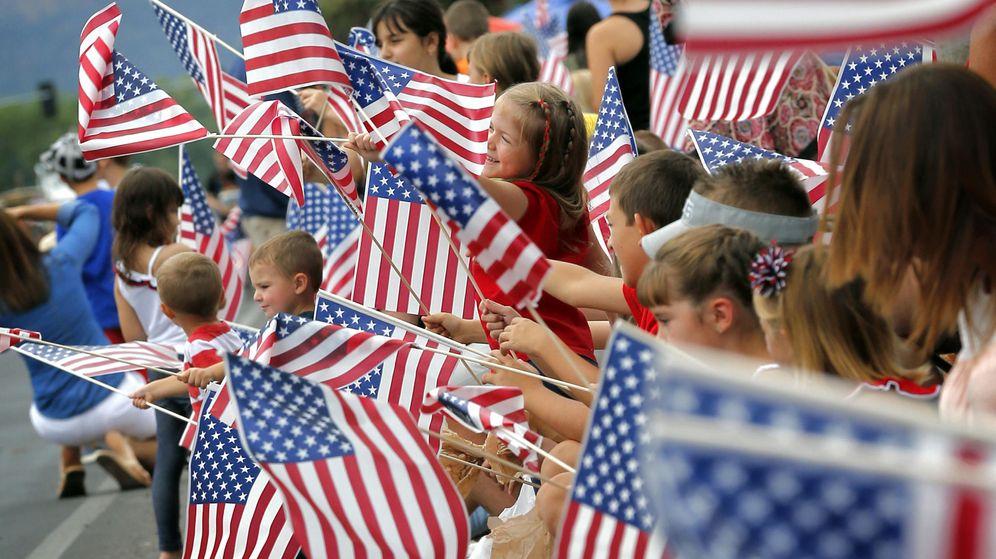 Foto: Banderas estadounidenses en el Día de la Independencia. (EFE)