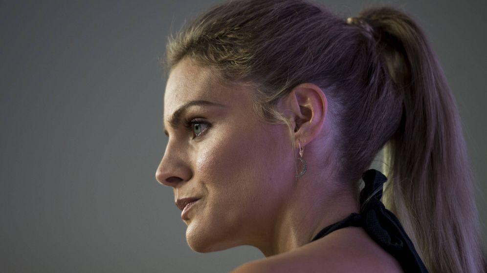 Foto: Amaia Salamanca en la presentación de la campaña de Women's Secret.