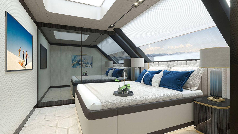 El dormitorio principal en suite. (Sunreef Yachts)