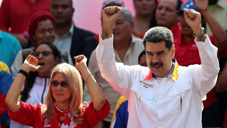 El matrimoniio Nicolás Maduro y Cilia Flores en un acto reciente de apoyo popular a su Gobierno.(Reuters)