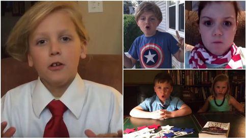 Donald Trump, imitado por niños: Todo el mundo enfermará de victoria