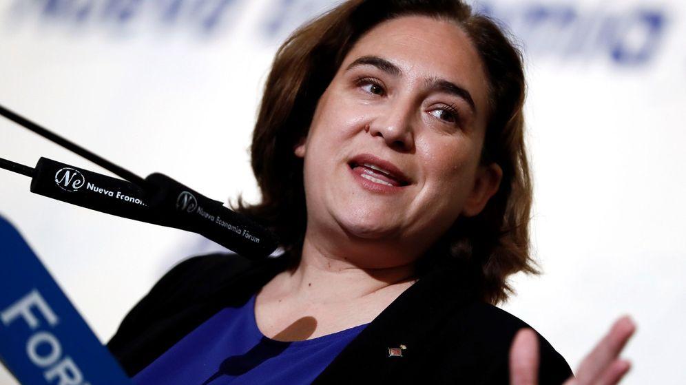 Foto: La alcaldesa de Barcelona, Ada Colau, este lunes e un evento en Madrid. (EFE)