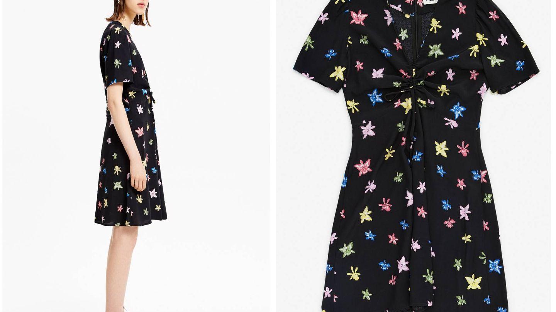 El vestido negro con flores de Bimba y Lola. (Cortesía)