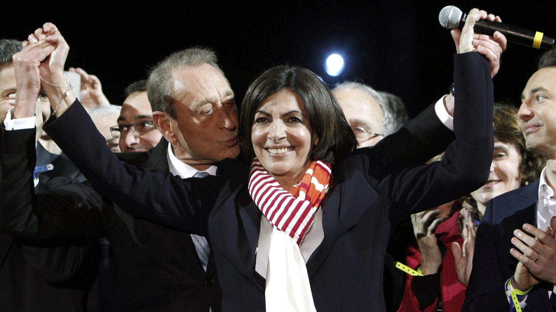 La gaditana Anne Hidalgo celebra su victoria en París (Efe).