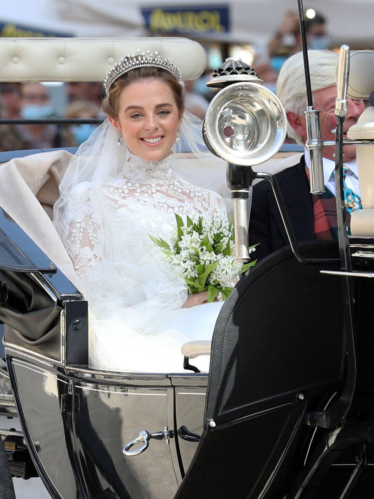 Charlotte, dirigiéndose a la catedral. (Gtres)
