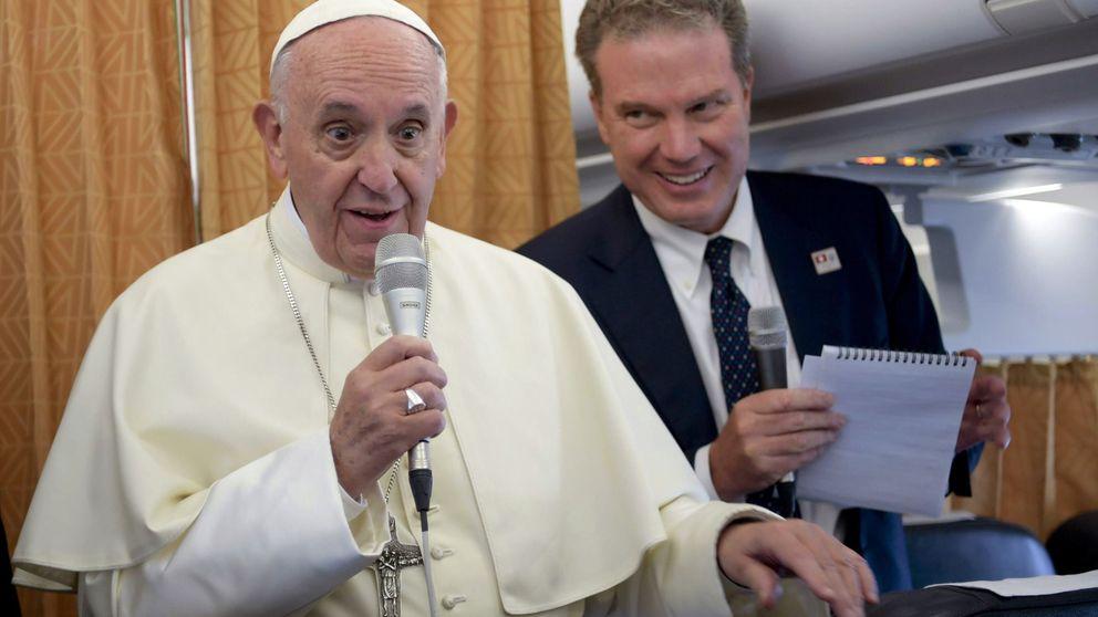 El papa Francisco, en el avión a Marruecos: Visitaré España cuando haya paz