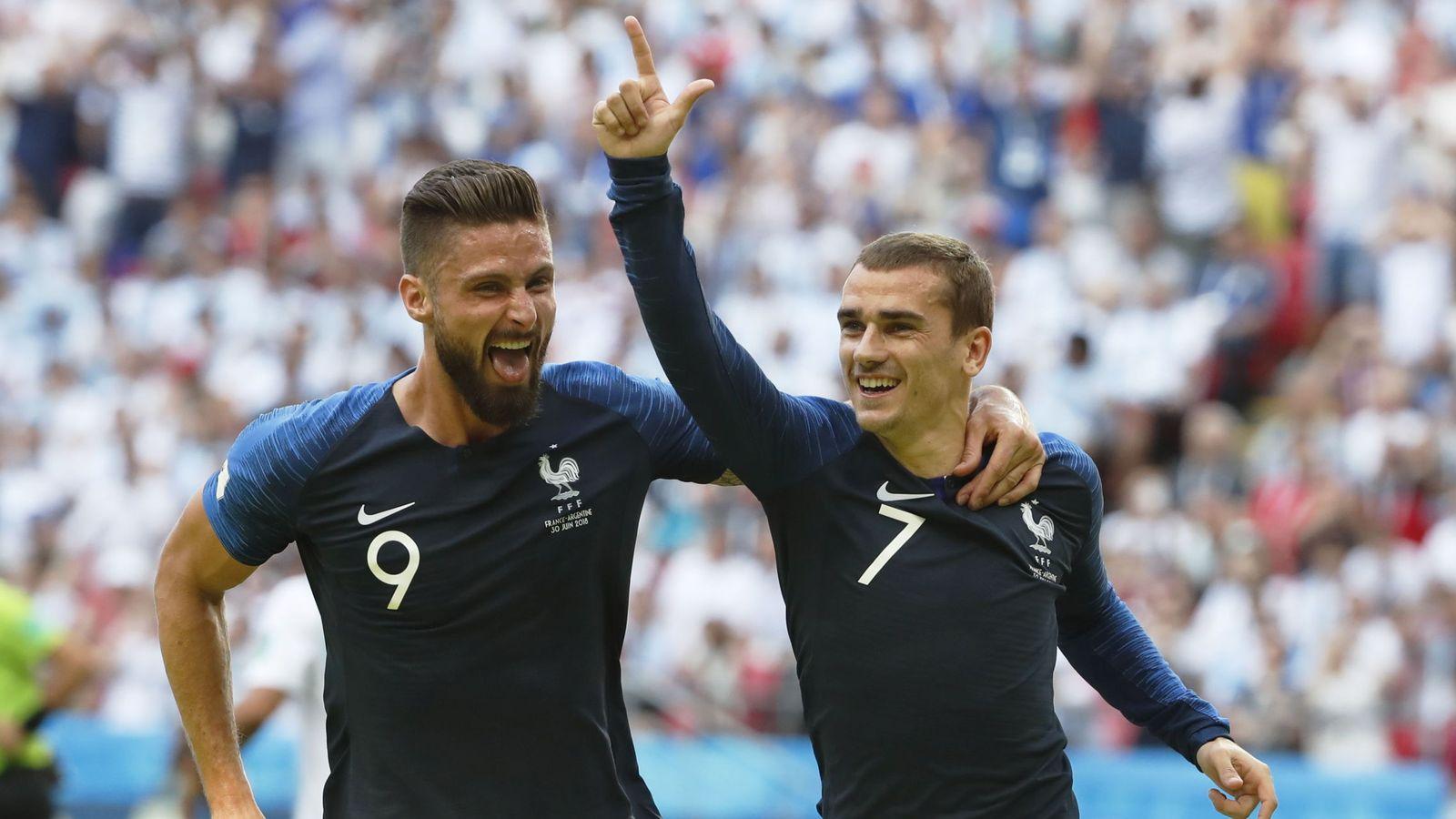 Foto: Giroud (i) y Griezmann (d), dos de los delanteros de Francia. (EFE)
